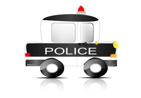 delinquency: Police car
