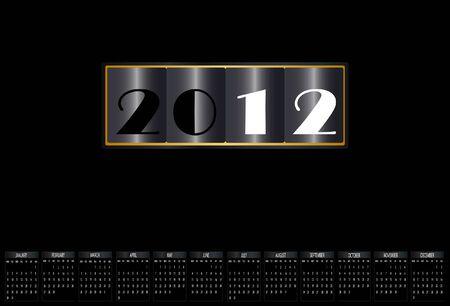 New year 2012 calendar Stock Vector - 11773272