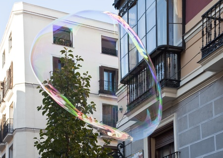 Huge soap bubbles in the street Stock Photo - 11773280
