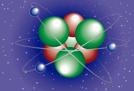 Abstract background of a molecular Atom Stock Vector - 11773501
