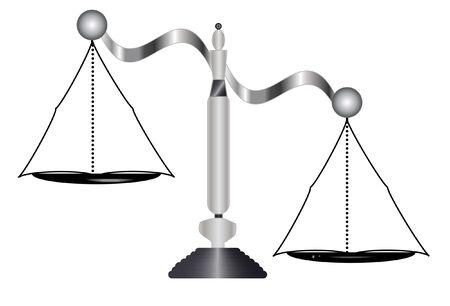 unbalanced: Unbalanced scale isolated on white background