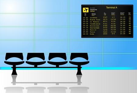storehouse: Aeropuerto de la sala de espera Vectores