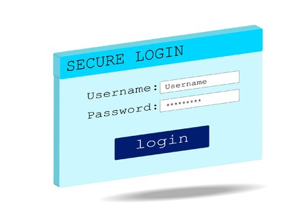 logon: Abstract background Secure log-on white