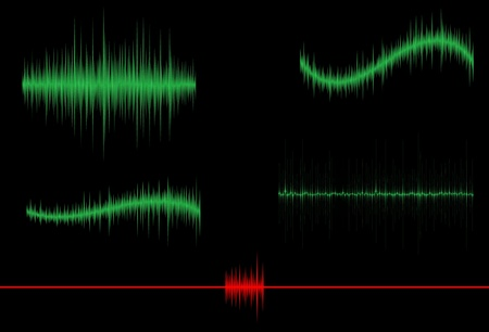 sound wave: Abstract background with different types of waves  Illustration