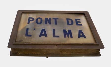 indicative: signal indicative of the Pont de L�alma Stock Photo