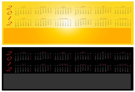 2012 Calendars in two colors in Spanish Stock Vector - 11889249