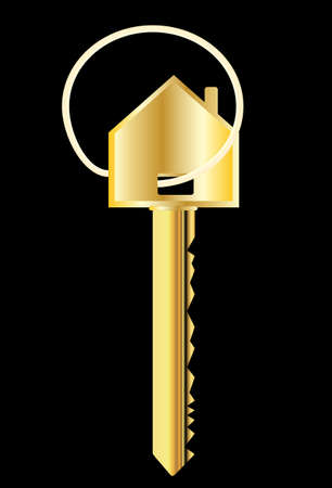 House key in gold  Stock Vector - 11889185