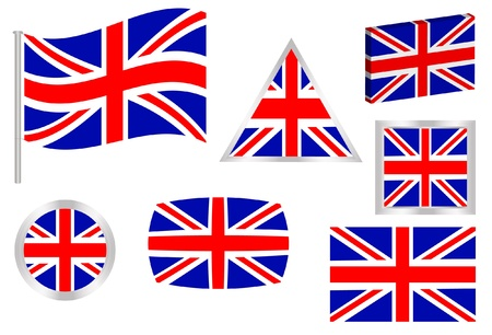 British Flag Set Stock Vector - 11889186