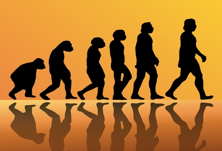 Abstract background of the evolution of man