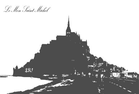mont saint michel: Le Mont Saint Michel,Normandy Illustration