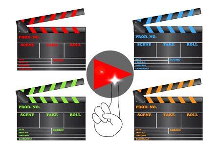 slate film: Slate film with the play symbol