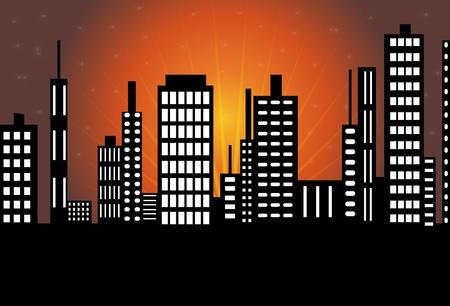 eventide: City skyline