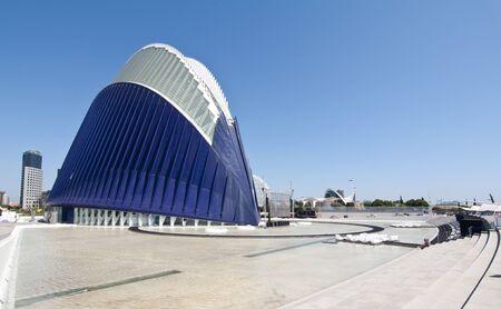 hemispheric: VALENCIA - SEPTEMBER 9: Agora building in the City of Arts and Sciences designed by Santiago Calatrava on September 9, 2011 in Valencia, Spain