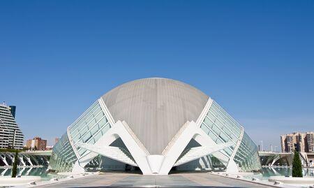 hemispheric: VALENCIA - SEPTEMBER 11:Hemisferic in the City of Arts and Sciences designed by Santiago Calatrava on September 11, 2011 in Valencia, Spain