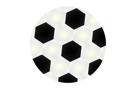 balon: Soccer ball isolated on white background  Illustration