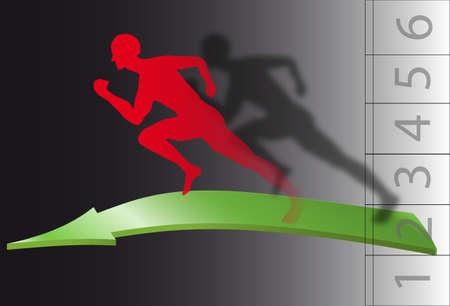 atleta corriendo: Atleta corriendo