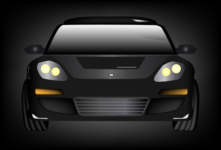 car front: black color car