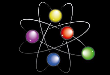 Molecule black background color Stock Vector - 11938977