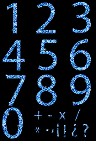 Numbers and mosaic-textured Stock Vector - 11938911