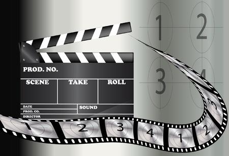 movie pelicula: Resumen de antecedentes de pel�cula de cine Vectores