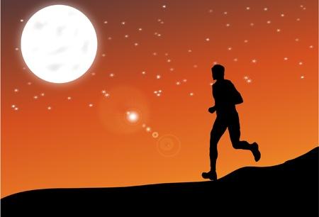 Athlete running Stock Vector - 12000912