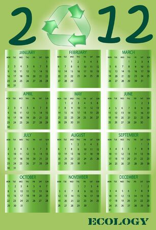 Ecological 2012 Calendar  Stock Vector - 12000925