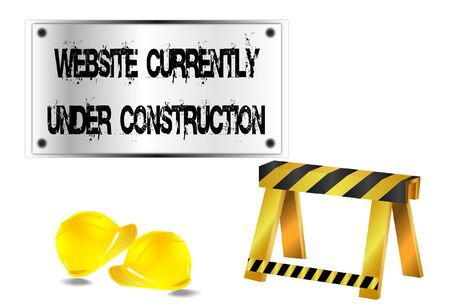 construction helmet: Website currently under construction