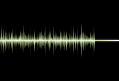 Waveform abstract background Stock Vector - 12023383