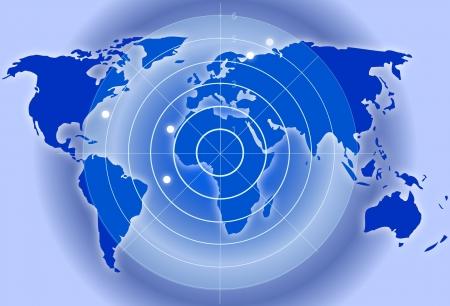 Carte avec un radar