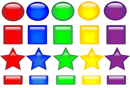 Colored buttons   Illusztráció