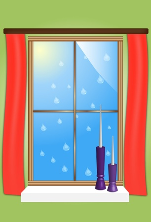 Drawing of a window Stock Vector - 12041149