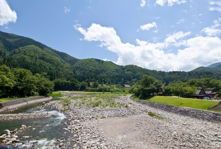 Panoramic landscape of the Japanese Alps in Japan Stock Photo - 12041210