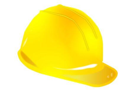 yellow helmet force on white background Stock Vector - 12041252