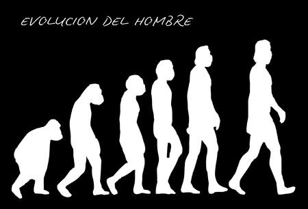 silueta mono: Evoluci�n del hombre