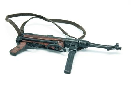 Submachine gun on a white background photo
