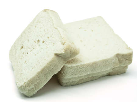 Sliced bread slices on white background Stock Photo - 12640002