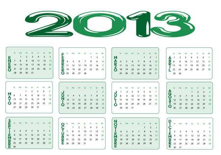 Calendar year 2013 Stock Vector - 13611148