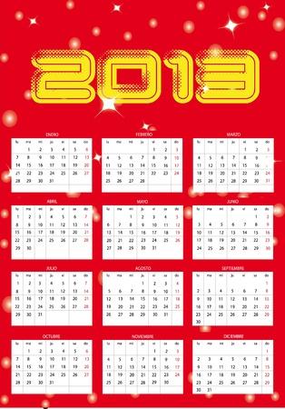 Calendar year 2013 Stock Vector - 13611149
