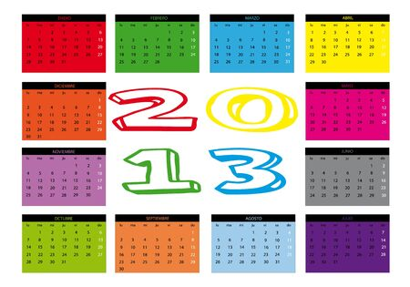 Calendar year 2013 Stock Vector - 13611146