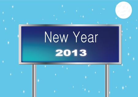2013 in New traffic signal in English  Stock Vector - 14127332