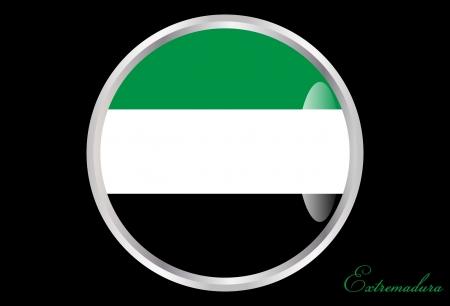 autonomic: Extremadura bandiera di un pulsante