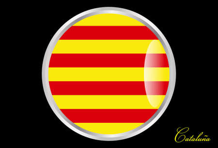 flag of Catalonia in button Illustration