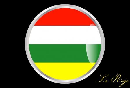 autonomic: Flag of La Rioja in a button Illustration