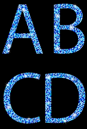 A,B,C,D,letters of the alphabet Vector