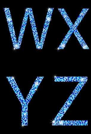 W,X,Y,Z,letters of the alphabet Vector
