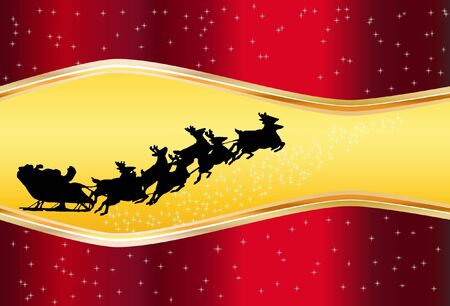 abstract background red Christmas with Santa Claus Vector