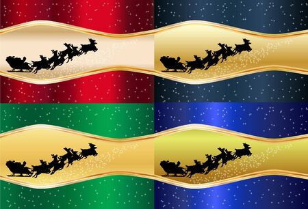 4 Christmas abstract background  Vector