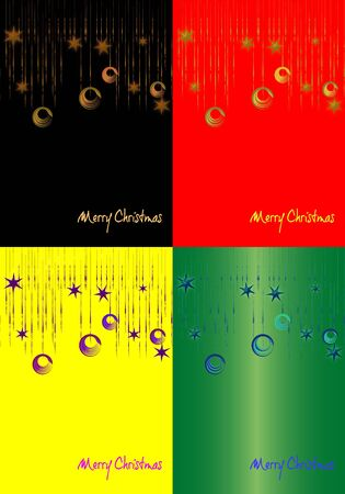 Christmas abstract backgrounds in different colors Vector