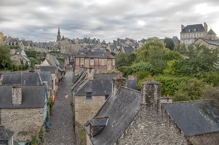 dinan: Panoramic city of Dinan, France