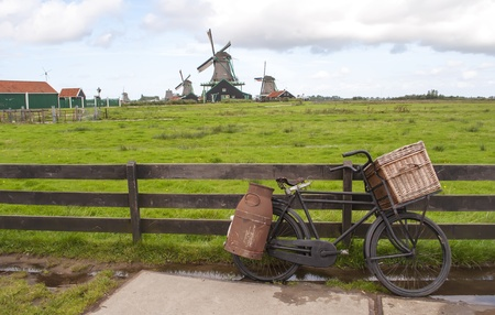 Typical Mills in the famous village of Zaanse Schans Dutch photo